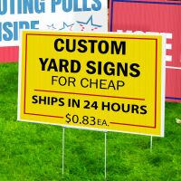 Read Crazy Cheap Political Signs Reviews