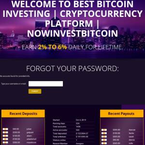 nowinvestbitcoin.com 1 star review on 19th May 2020