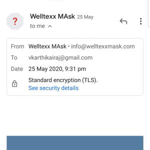 welltexxmask.com 1 star review on 6th June 2020