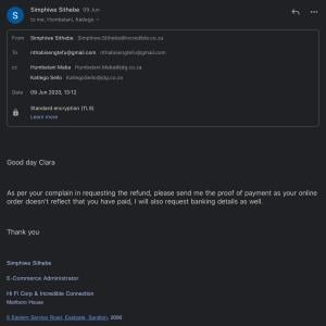 Incredible connection 1 star review on 14th July 2020