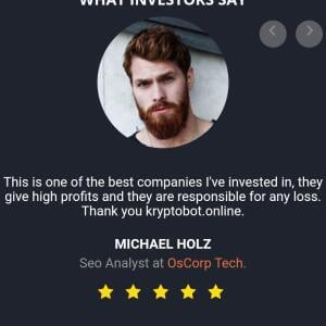 kryptobot.online 1 star review on 18th May 2020
