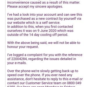Carphone Warehouse 1 star review on 2nd July 2020