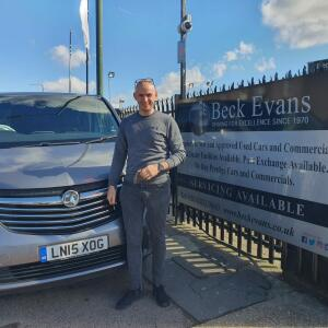 BECK EVANS 5 star review on 20th March 2021