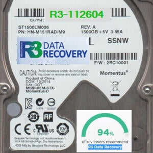 R3 Data Recovery Ltd 5 star review on 2nd June 2021