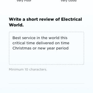 Electrical World 5 star review on 7th January 2021