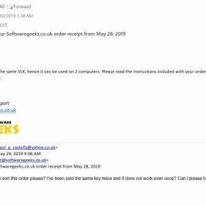 Software Geeks 1 star review on 2nd June 2019