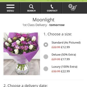 EFlorist 1 star review on 11th April 2018