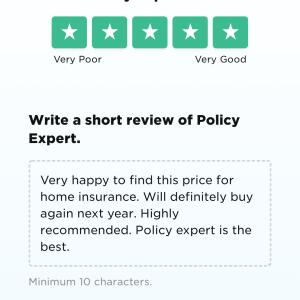 Policy Expert 5 star review on 15th November 2020