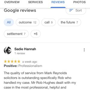 Mark Reynolds Solicitors Ltd 5 star review on 15th February 2021