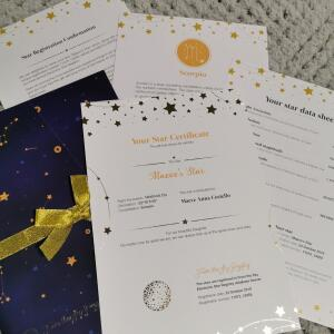 From the Sky Registry - Name a Star Gifts 5 star review on 20th December 2019
