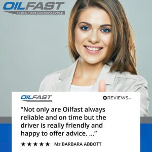 Oilfast 5 star review on 12th July 2021