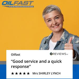 Oilfast 5 star review on 4th March 2021