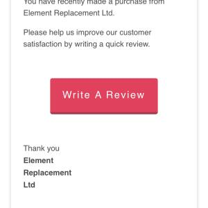 Element Replacement Ltd 5 star review on 13th October 2020