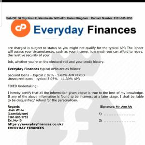 everydayfinances.co.uk 1 star review on 11th February 2020