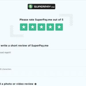 SuperPay.me 5 star review on 16th September 2021