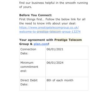 Prestige Telecom Group 1 star review on 1st June 2021