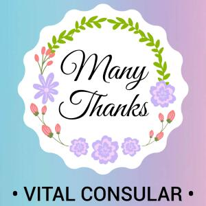 Vital Consular 5 star review on 28th August 2020