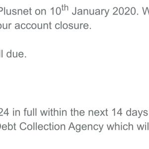 Plusnet 1 star review on 1st February 2020