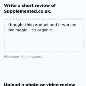 Supplemented.co.uk 5 star review on 5th February 2021
