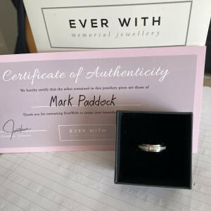 EverWith Memorial Jewellery 5 star review on 28th July 2021