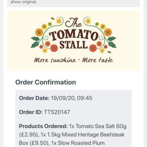 The Tomato Stall 5 star review on 22nd October 2020