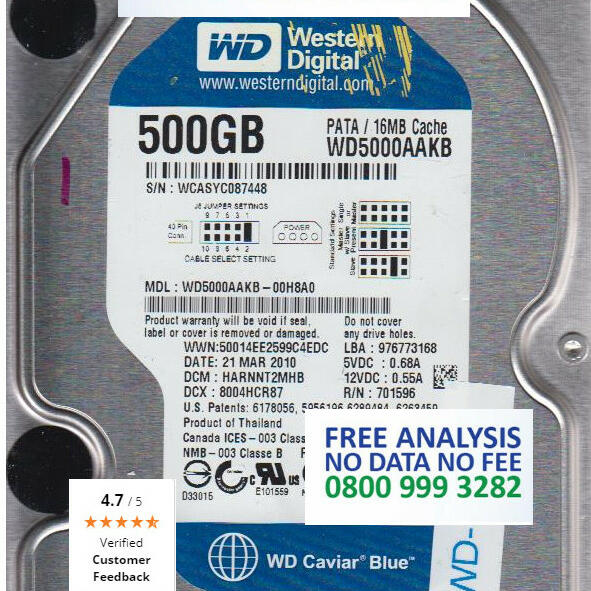 R3 Data Recovery Ltd 5 star review on 3rd April 2015