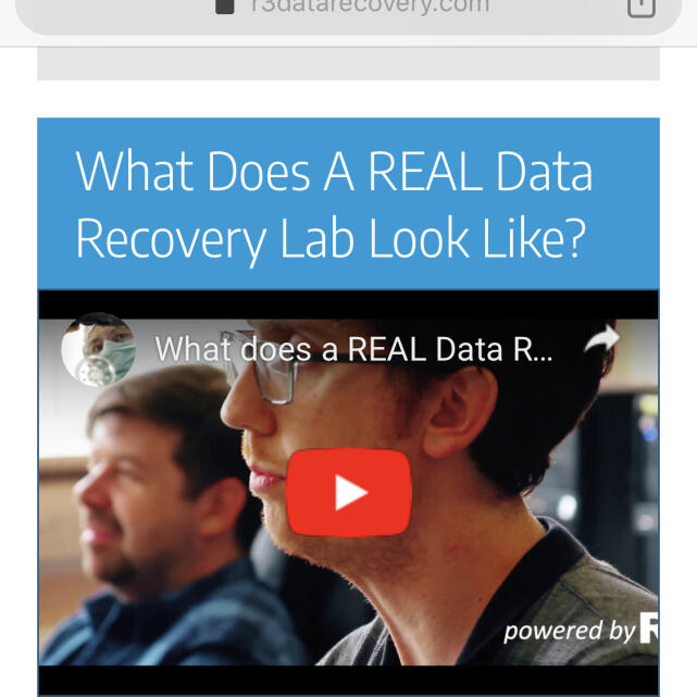 R3 Data Recovery Ltd 5 star review on 16th January 2020