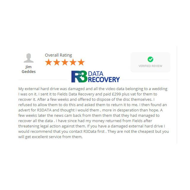 R3 Data Recovery Ltd 5 star review on 5th November 2015