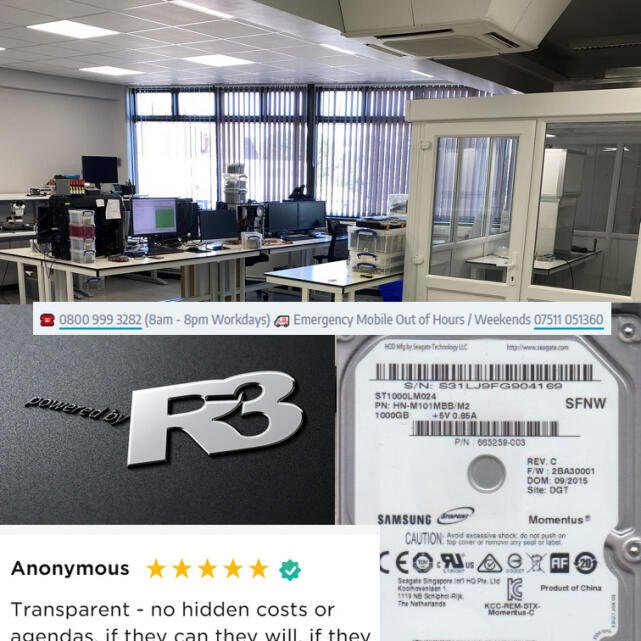 R3 Data Recovery 5 star review on 2nd July 2021
