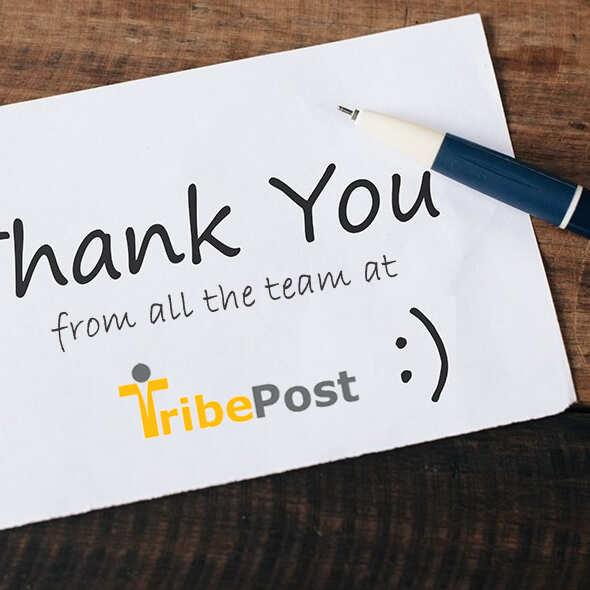 TribePost Ltd 5 star review on 26th March 2021