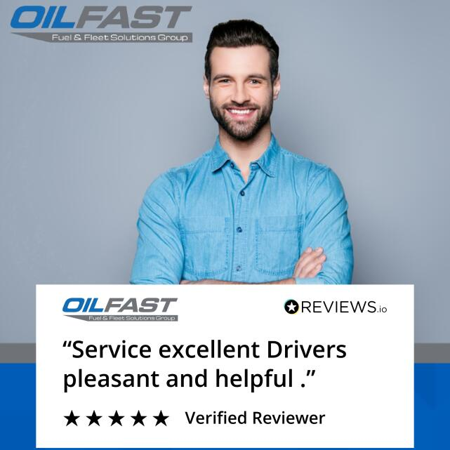 Oilfast 5 star review on 31st August 2020