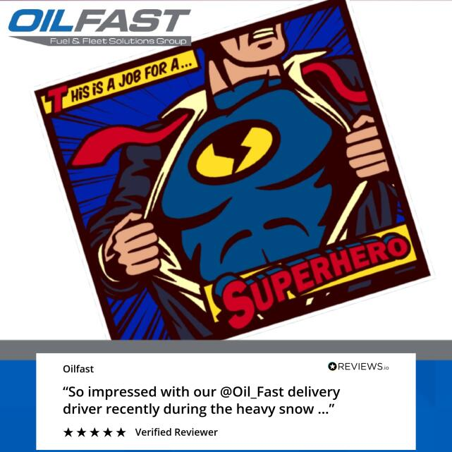 Oilfast 5 star review on 22nd February 2021