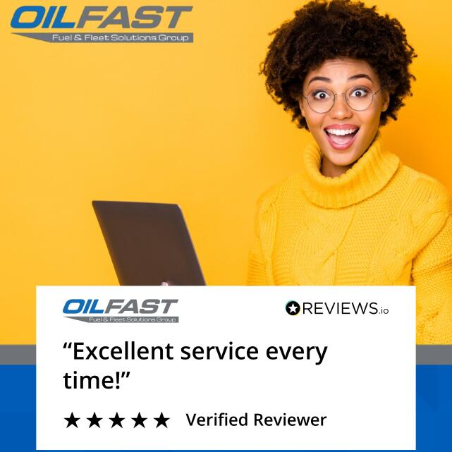 Oilfast 5 star review on 30th August 2020