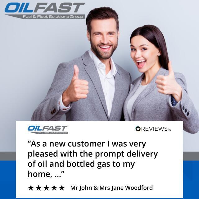 Oilfast 5 star review on 1st September 2020