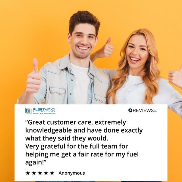 Fleetmaxx Solutions 5 star review on 8th July 2021