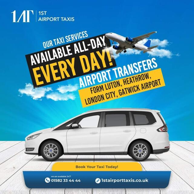 1ST Airport Taxis LTD 5 star review on 17th June 2021