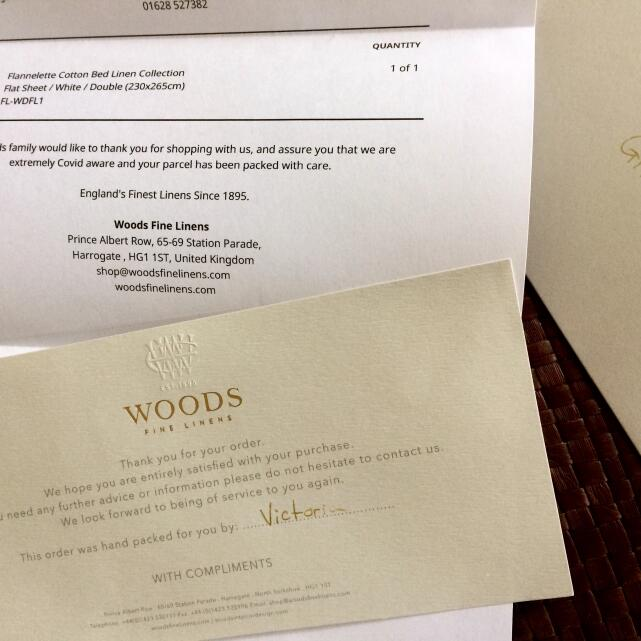 Woods Fine Linens 5 star review on 9th March 2021