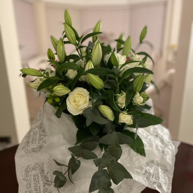 Verdure Floral Design Ltd 5 star review on 24th March 2021
