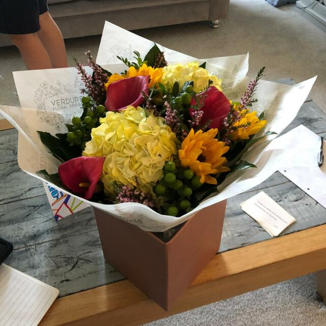 Verdure Floral Design Ltd 5 star review on 20th May 2021